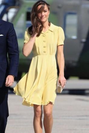 ケイトミドルトンプリンセス水仙シングルブレストAラインドレス