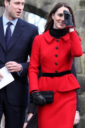 Kate Middleton Red Suit Work Outfit