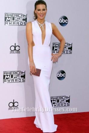 Kate Beckinsale ケイトベッキンセールセクシーホワイトイブニングドレス2014アメリカンミュージックアワード