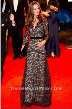 Kate Middleton Black Lace Dress War Horse Premiere