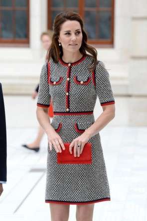 Kate Middleton Fashion Woolen Dress With Sleeves