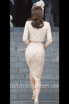Kate Middleton ケイトミドルトンレースのカクテルドレスクイーンズ感謝祭サービス