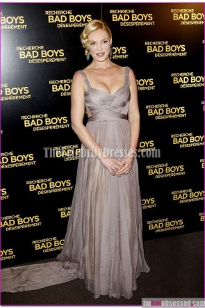Katherine Heigl Prom Formal Dress Paris 'One For The Money' Premiere