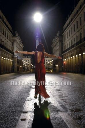 Keira Knightley キーラ・ナイトレイ ココマドモアゼルの赤いイブニングドレスウエディングドレス