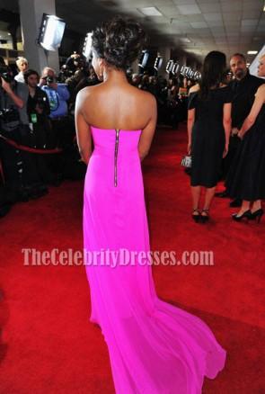 Keke Palmer Fuchsiaウエディングドレス2012 NAACP Image Awardsレッドカーペット