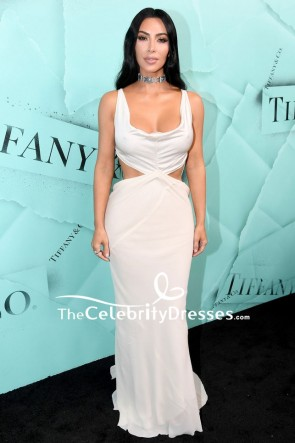 Kim Kardashian Ivory Cut Out Mermaid Dress 2018 Tiffany Blue Book Collection