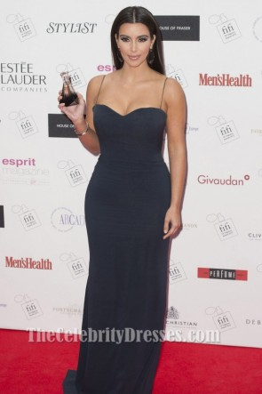 KIM KARDASHIAN Dark Navy Evening Dress FiFi UK Fragrance Awards