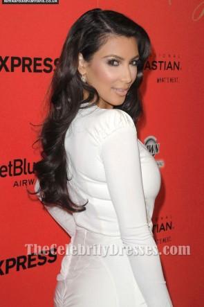 Kim Kardashian キムカーダシアンホワイトカクテルドレスハリウッドスタイル賞
