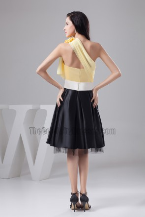 Knee Length One Shoulder Cocktail Graduation Party Dress
