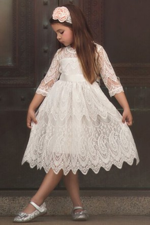 Lace Princess Flower Girl Dress
