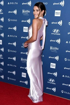 Lea Michele Halter Sheath/Column Evening Dress 2019 GLAAD Media Awards TCD8361