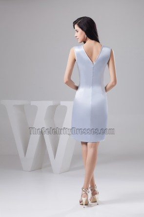 Light Sky Blue Party Cocktail Homecoming Dresses