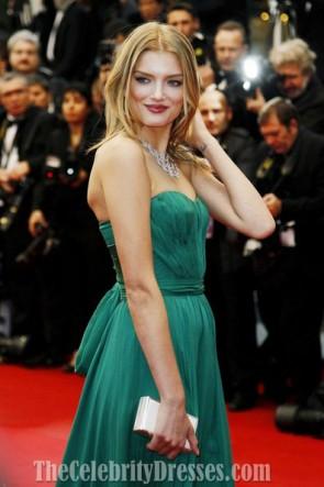 Lily Donaldson リリードナルドソンイブニングウエディングドレス2012カンヌ映画祭レッドカーペット