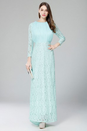 Long Sleeves Lace Evening Gown Formal Dresses