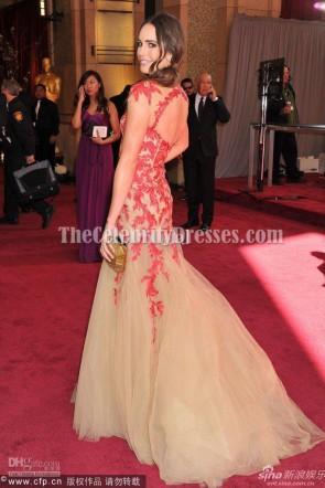 Louise Roe 刺繍入りチュールウエディングドレス2013オスカーレッドカーペット