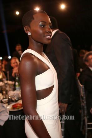 Lupita Nyong'oホワイトウエディングドレス2014批評家チョイス映画賞
