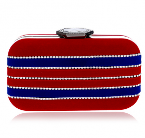 Fashion Velvet Diamond Evening Bags Clutch Bag Handbag TCDBG0077