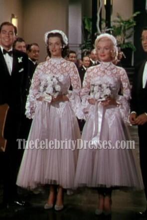 Marilyn Monroe Gentlemen Prefer Blondes White Tulle Wedding Dress