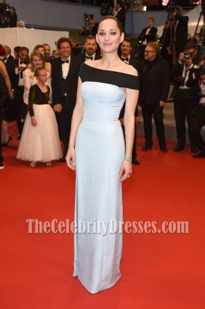 Marion Cotillard Elegant Off-the-shoulder High Slit Evening Prom Gown Cannes 2015 1