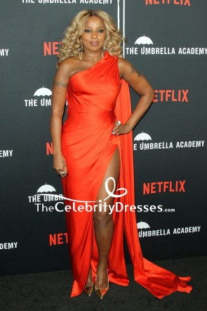 Mary J. Blige One-shoulder Evening Dress premiere of Netflix's 'The Umbrella Academy'