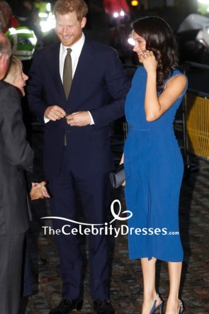 Meghan Markle Blue Midi Dress 100 Days of Peace