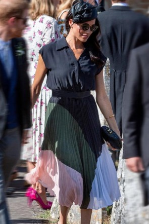 Meghan Markle Fashion Shirt + Dress Two Pieces