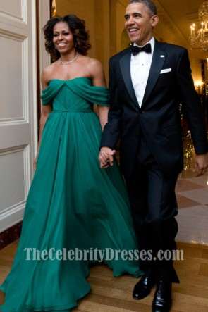 Michelle Obama Off-the-Shoulder Prom Dress 36th Kennedy Center Honors Gala