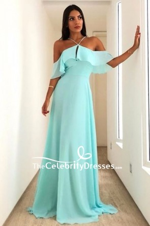 Mint Off Shoulder Formal Dress Evening Gown