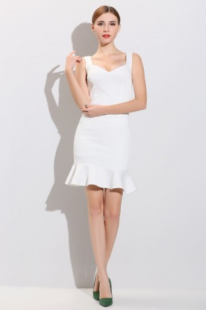 Short Mini White Party Dresses TCDMU0045