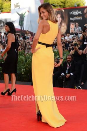 Natalia Borgesナタリアボルゲス 黄色いウエディングドレス2013ヴェネツィア映画祭プレミア