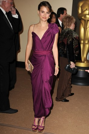 Natalie Portman Purple Prom Gown Evening Dress Governors Awards