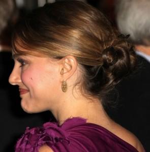 Natalie Portman ナタリー・ポートマン 紫色のウエディングドレスのイブニングドレスガバナーズアワード