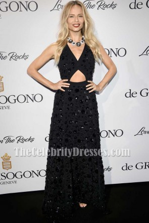 Natasha Poly Black Sequins Cut Out Gown DeGrisogono Love On The Rocks