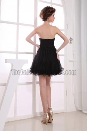 New Style Cute Beaded Little Black Dress Mini Party Dresses