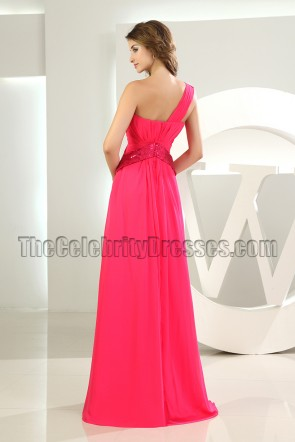 New Style Long One Shoulder Evening Dress Prom Gown
