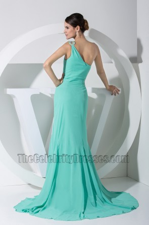 Mint One Shoulder Cut Out Prom Dress Evening Dresses