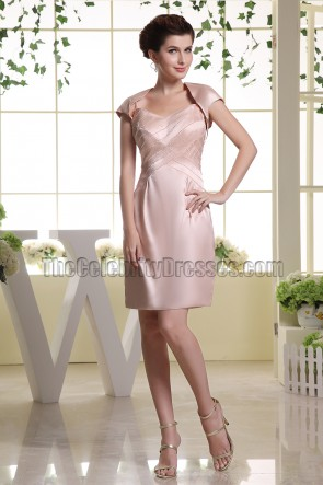 Pearl Pink Beaded Short Party Homecoming Cocktail Dresses