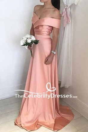 Off-the-shoulder Long Prom Bridesmaid Dress For Sale
