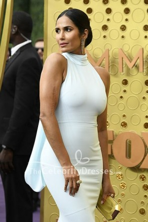 Padma Lakshmi Light Blue Evening Dress 2019 Emmys Awards  TCD8647