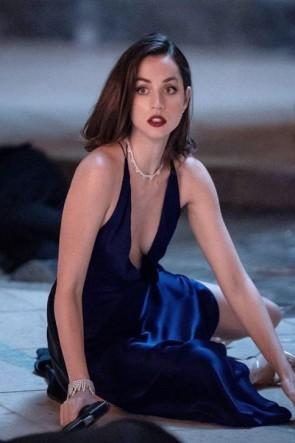 Paloma Dark Navy Sexy Dress In Movie No Time To Die 007