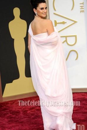 Penelope Cruzワンショルダーフォーマルドレス2014オスカーレッドカーペット