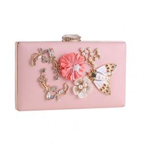 Pink Beading Fashion Evening Party Clutch Handbag