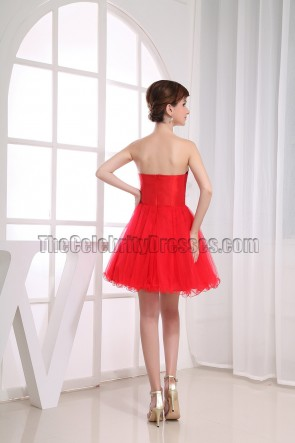 Gorgeous Red Strapless A-Line Party Dress Homecoming Dresses