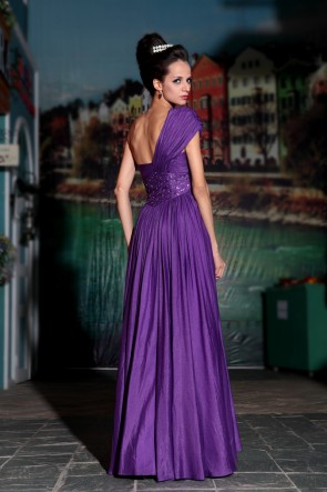 Regency Beaded One Shoulder Prom Dress Formal Evening Gowns