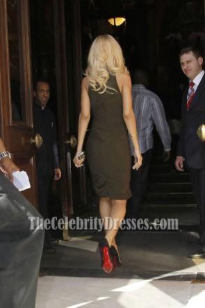 Rihanna リアーナショートカクテルドレス戦艦ロンドンフォトコールセレブリティドレス