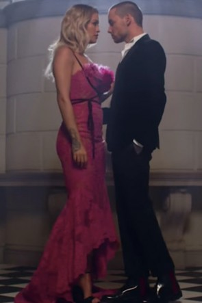 Rita Ora Hot Pink High Low Mermaid Dress In Video 'For You'