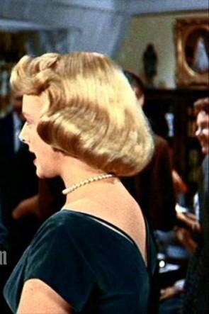 Rosemary Clooney ホワイトクリスマス1954年ローズマリークルーニーダークグリーンベルベットのカクテルドレス