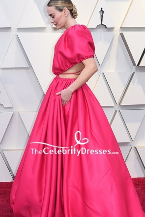 Sarah Paulson Fuchsia Cut Out Formal Dress 2019 Oscars Red Carpet TCD8306