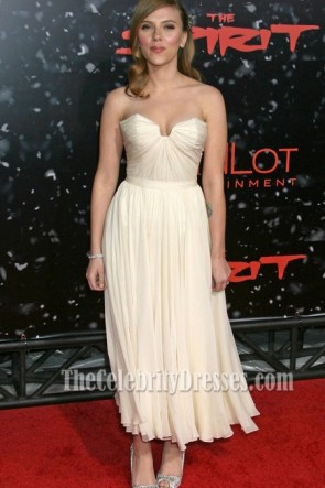 Scarlett Johansson Strapless Prom Dress'The Spirit' Premieres Red Carpet