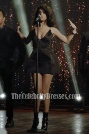 Selena Gomez Sexy Little Black Dress With Low-cut Neck Same Old Love Music Video